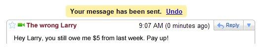 Gmail에 Undo 기능 추가