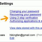 구글의 2단계 인증 기능